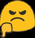 Emoji for blobthumbsdown