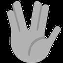 Emoji for vulcansalute