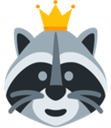 Emoji for Crown_Raccoon