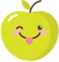 Emoji for happyapple