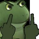 :FrogMiddleFinger: Discord Emote