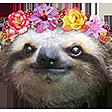 Emoji for slothFlowery