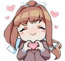 Emoji for monika_hearts