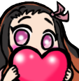Emoji for nezukoheart