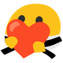 Emoji for blobkarateheart