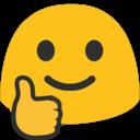 Emoji for blobthumbsup