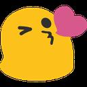 Emoji for BlobKissHeart