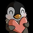 Emoji for penguinHeart