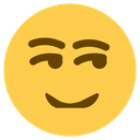 Emoji for smirk