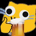 Emoji for blobcatgooglybeer