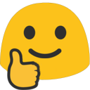 Emoji for blobthumbsup