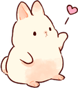 :3064_bunnyheart: Discord Emote