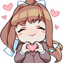 Emoji for red__MonikaHeart