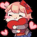 Emoji for red__SayoriHeart
