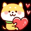 Emoji for shibaheart