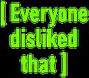 Emoji for disliked