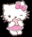 Emoji for hellokittylove