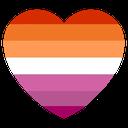 Emoji for LesbianFlag