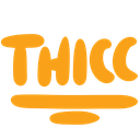 Emoji for Thicc