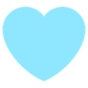 Emoji for heart_aqua