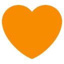 Emoji for heart_darkorange