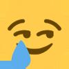 Emoji for cryingsmirk