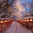 雪国の遊び場