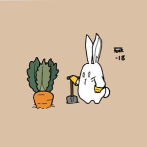 Logo for Lo-Fi Bunny's carrot farm🥕